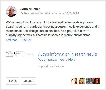 foto de autor en los resultados de google