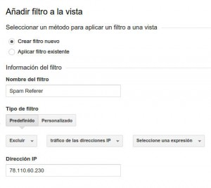 eliminar referer spam con analytics