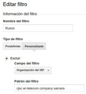 referer spam filtro analytics