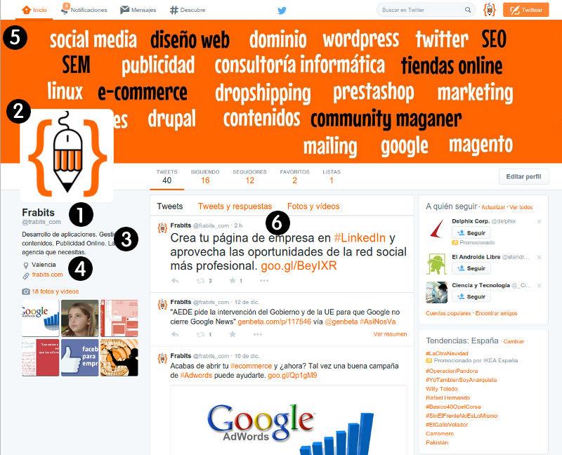 Configuración Twitter para Empresas