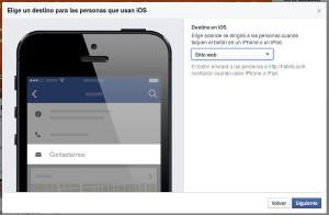 llamada a la acción en Facebook