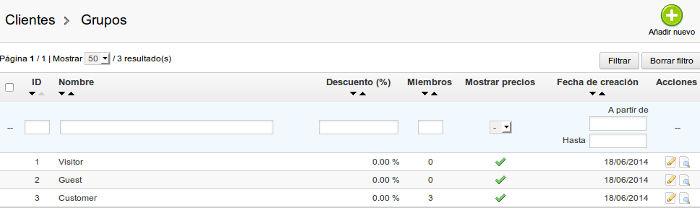configuracion grupos prestashop 1.5